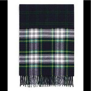 Burberry Navy Unisex Wool Vintage Check Scarf